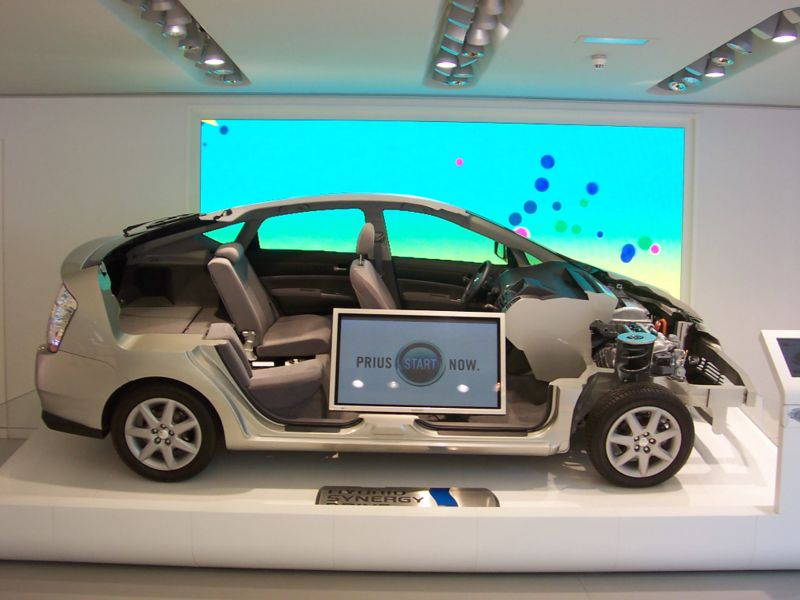 2006 Prius Cut Away In A Toyota Showroom In Paris