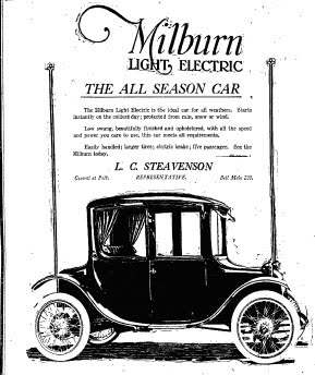 1920 Milburn Show Car Info